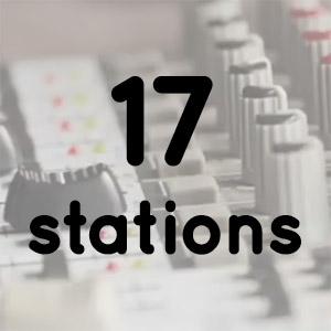 17 different radio stations
