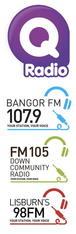 Q Radio, Bangor FM, Down Community Radio, Lisburn's 98FM