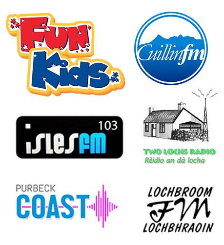 Fun Kids, Cuillin FM,  Two Lochs Radio, Lochbroom FM, Isles FM, and Purbeck Coast FM