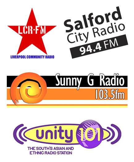 ALL FM, Unity 101, Salford City Radio, Liverpool Community Radio, Sunny Govan