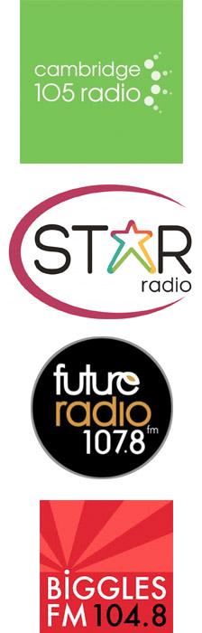 Cambridge 105, Star Radio, Future Radio, Soundart Radio